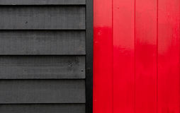 Red and black wooden surface Stock Images