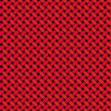 Red Black Woven Tile. A tileable design - duplicate and make exactly size you need. red and black diagnonal weave stock images