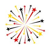 Red black yellow gold fireworks royalty free illustration
