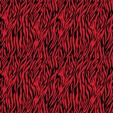 Red on black zebra stripe print seamless repeat pattern background Royalty Free Stock Photos
