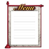 Red blackboard menu Royalty Free Stock Image