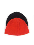 Red and blackenning atheletic hats. On white background Stock Photos