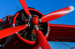 Red blade aircraft Royalty Free Stock Image