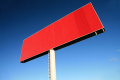 Red blank billboards Royalty Free Stock Images