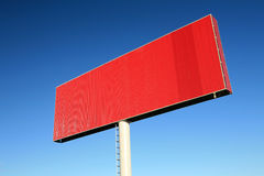 Red blank billboards Royalty Free Stock Photo