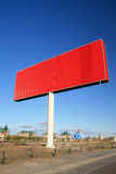Red blank billboards Stock Images