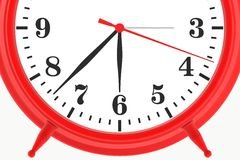 Red blank botton alarm clock Stock Images