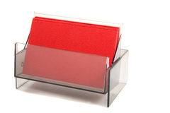 Red blank business card in a box Stock Image