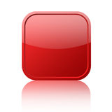 Red blank button Royalty Free Stock Image