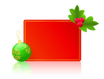 Red blank card. christmas new year concept Stock Photography