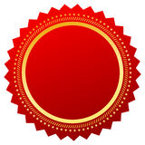 Red blank certificate Royalty Free Stock Photography