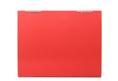 Red blank desktop calendar with isolated Stock Photos