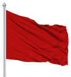 Red Blank Flag With Flagpole Stock Photography