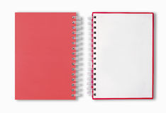 Red Blank Note Book. Blank Note Book For write anythings in it Royalty Free Stock Image