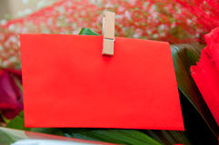 Red blank note for text Royalty Free Stock Photos
