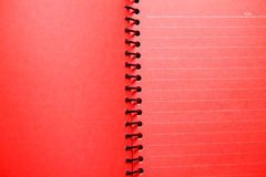 Red blank notebook. Red blank of lined notebook Stock Photos