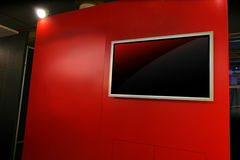 Red blank panel Royalty Free Stock Photo