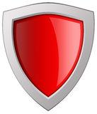 Red blank shield Stock Photos