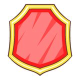 Red blank shield icon, cartoon style. Red blank shield icon. Cartoon illustration of red blank shield vector icon for web Stock Photography