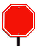 Red blank sign. For your text inside Stock Photography