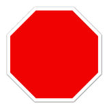 Red blank sign Stock Images
