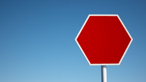Red Blank Sign with Clipping Path Royalty Free Stock Photo