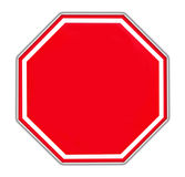 Red blank sign Stock Image