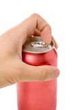 Red blank soda can Stock Image