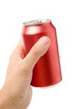 Red blank soda can Stock Photo