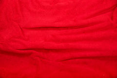 Red blanket background Stock Photography