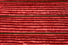 Red blanket texture. With lines old vintage Royalty Free Stock Photo