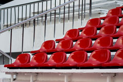 Red bleachers. In areana, Thailand royalty free stock photos