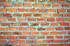 Red blick wall. Red brick wall on thailand Stock Image