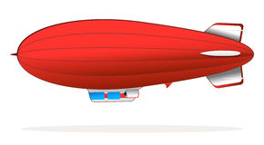 Red blimp Stock Photo