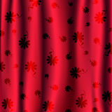 Red blinds with flower pattern  Stock Photo