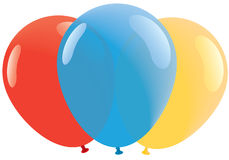 Red, Bllue, Yellow balloons Stock Photos