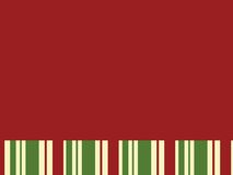 Red Block with Christmas Stripes. Good for background and title Royalty Free Stock Photo