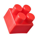 Red block of meccano Stock Image