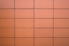 Red block wall of building Royalty Free Stock Photography