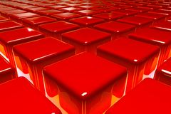 The Red Blocks Stock Image
