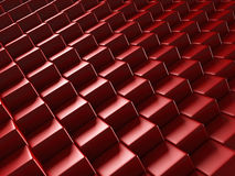 Red Blocks Abstract Shiny Background. 3d Render Illustration Royalty Free Stock Photography