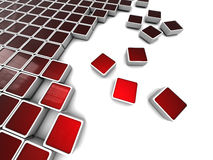 Red blocks background Royalty Free Stock Photo