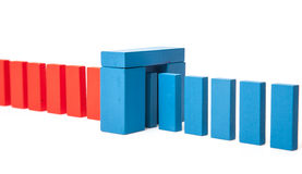Red blocks changing to blue Stock Image