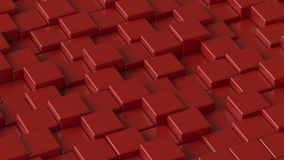 Red blocks. 3D rendering. Red blocks. Art concept. Abstract background. 3D rendering vector illustration