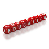 Red blocks spelling Education Royalty Free Stock Image