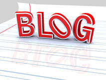 Red blog Royalty Free Stock Photos