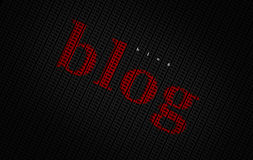 Red blog typography word Royalty Free Stock Images