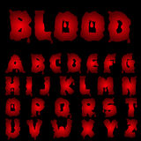 Red blood alphabet Royalty Free Stock Image