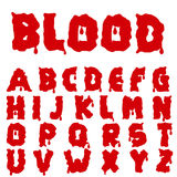 Red blood alphabet Royalty Free Stock Photography