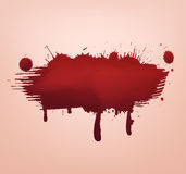 Red blood blot abstract Stock Images